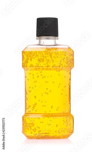 Leinwandbild Motiv water mouthwash isolate on white background
