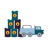 truck for transportation with barrel of petroleum - 231931778