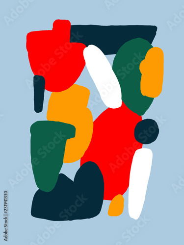 Bright Colorful Abstract Drawing - 231941330