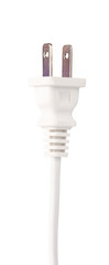 White electrical plug and electrical cord isolated on white background © cloud7days