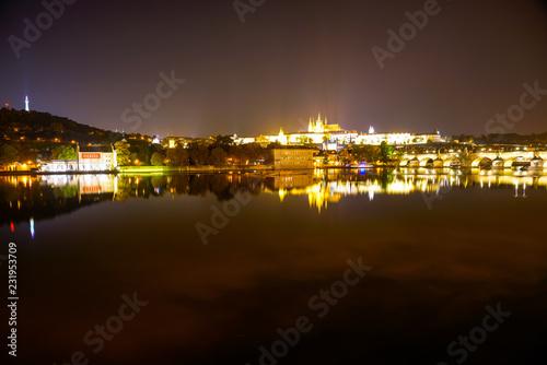 Prague Skyline at Night