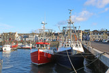 Fishing boats in Stranraer Harbour, Scotland - 231964524
