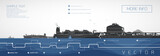 Gas carrier moored at liquefied gas storage, vector infographics. - 231965712