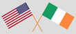USA and Ireland. The American and Irish flags. Official colors. Correct proportion. Vector - 231972571