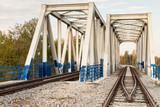 Metal railway viaduct