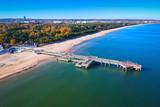 Baltic Sea pier in Gdansk Brzezno at autumn, Poland - 231987512
