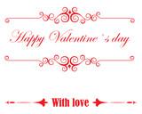 happy valentine's day text with retro frame - 231990180