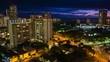 Sunset timelapse of the city of Honolulu, Hawaii, USA