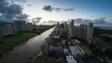 Sunrise timelapse of the city of Honolulu, Hawaii, USA - 232006500