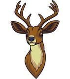 Cartoon deer head mascot - 232012947