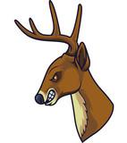 Angry deer head mascot - 232012987