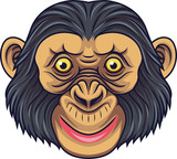 Cartoon Chimpanzee Head Mascot - 232013361