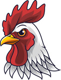 Chicken rooster head mascot - 232013517