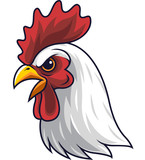 Chicken rooster head mascot - 232013719
