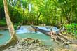 Erawan waterfall at Kanchanaburi , Thailand, beautiful waterfall, forest,