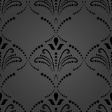 Floral vector dark ornament. Seamless abstract classic background with flowers. Pattern with repeating floral elements. Ornament for fabric, wallpaper and packaging - 232016178