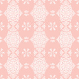 Classic seamless vector white pattern. Damask orient ornament. Classic vintage background. Orient ornament for fabric, wallpaper and packaging - 232016389