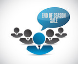 End of season sale, teamwork communication concept illustration - 232016774