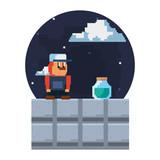 pixel video game - 232019945