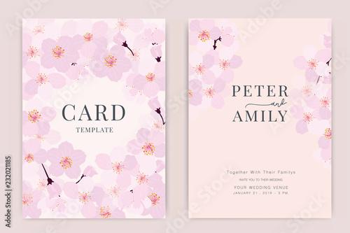 Zaproszenie na ślub, kwiatowy zapraszam dziękuję, nowoczesna karta rsvp Projekt kwiat i gałązki liści ozdobny Wektor elegancki szablon rustykalny