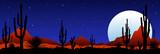 Moonlit night in the mexican desert - 232021515