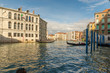 VENICE, ITALY- OCTOBER 30, 2018: Grand Canal in autumn