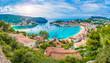 Leinwanddruck Bild - Panoramic view of Porte de Soller, Palma Mallorca, Spain