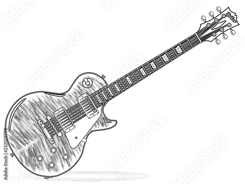 Outline Drawing Of An Guitar Buy Photos Ap Images Detailview