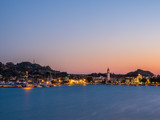 sunset over in Zante town harbor, Zakinthos - 232032393
