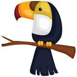 a vector of a cute toucan bird hanging - 232038587