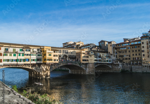 Fridge magnet Ponte Vecchio over Arno river. Florence, Italy