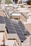 aerial view of solar panels - 232046919