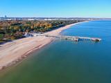 Baltic Sea pier in Gdansk Brzezno at autumn, Poland - 232052773