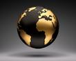 Gold-Schwarzer Globus - 232055591