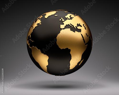 Gold-Schwarzer Globus © psdesign1