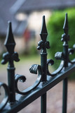 Iron fence at historic country house. - 232063151