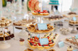 plate with delicious sweets - 232064901