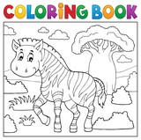 Coloring book African nature topic 4 - 232069300