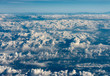 Flying Above the Clouds - View From the Airplane - 232074707