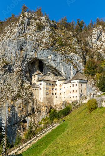 Predjama Castle in Slovenia.