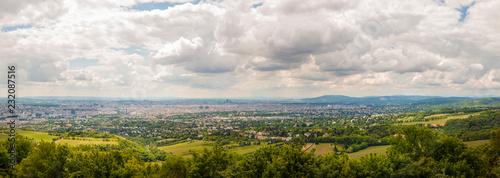 Vienna Cityscape Overcast Panorama