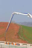 Concrete pouring on a construction site - 232090769