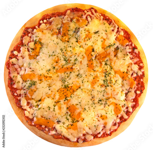 Foto Murales CHEESE AND TOMATO PIZZA CUT OUT