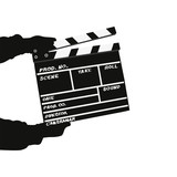 Vector clapperboard isolated on white background