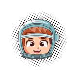 Astronaut boy face - 232105532