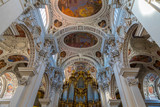 Inside of Saint Stephen Cathedral in Passau. - 232111171