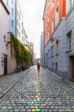 Street view in Passau, Bavaria, Germany. - 232111593