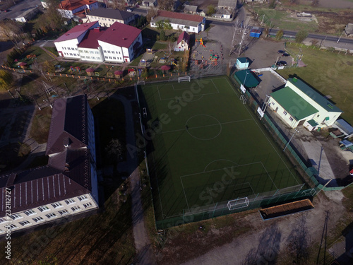 Poster Aerial view of the countryside (drone image). Near Kiev