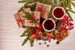 Leinwandbild Motiv Christmas and New Year background