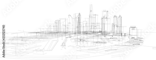 city buildings vector illustration - 232123740
